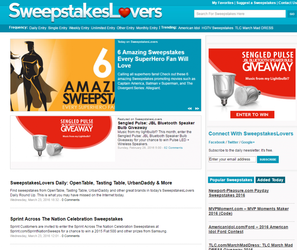 Sweepstakes Lovers