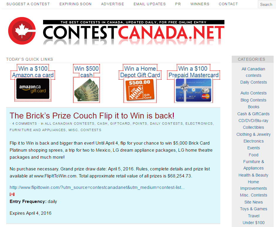 100 websites to submit and promote Online Contests - UpViral