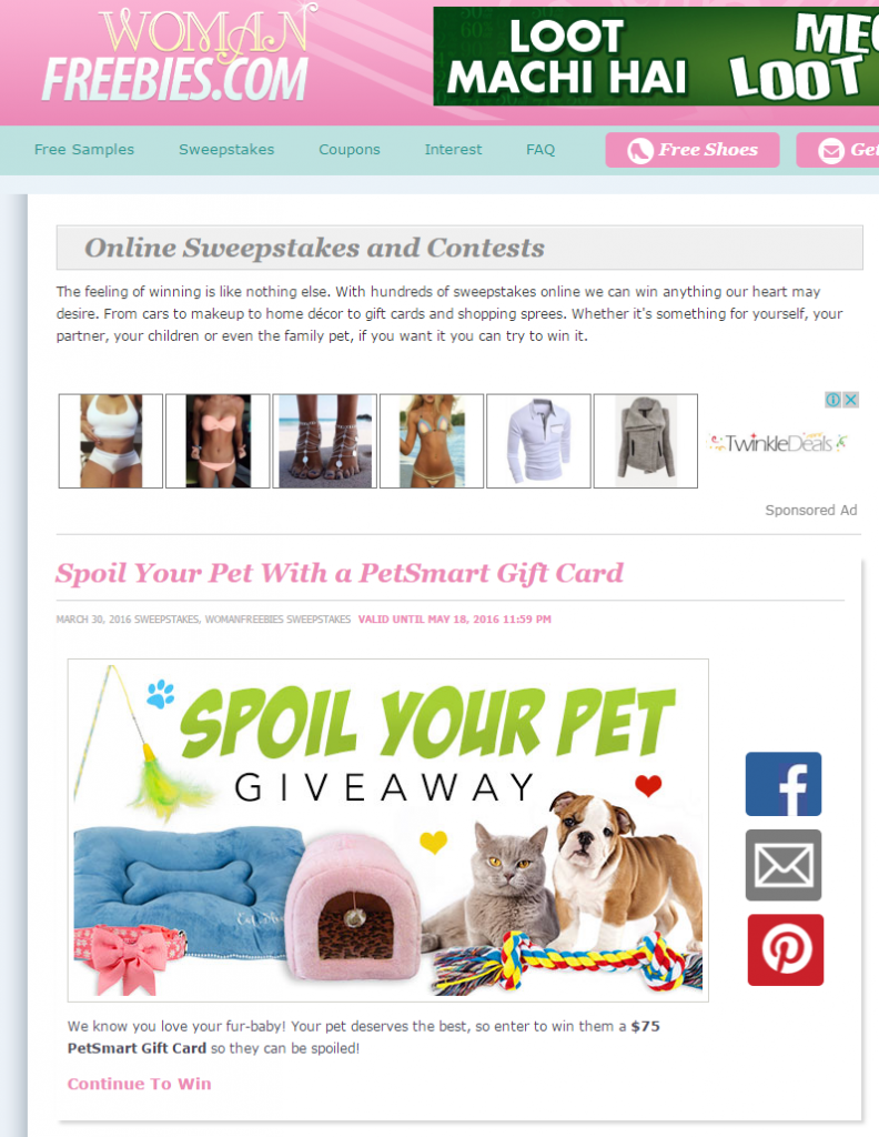 womanfreebies sweepstakes 100 websites to submit and promote online contests upviral 4388