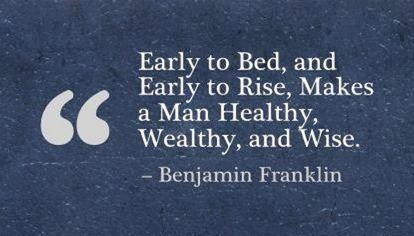 A quote from Benjamin Franklin.