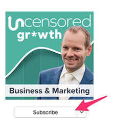 A red arrow pointing to a Subscribe button.