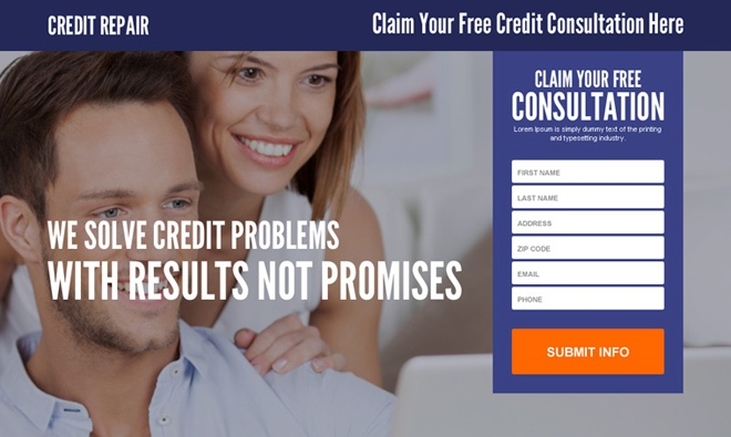 lead page free consultation