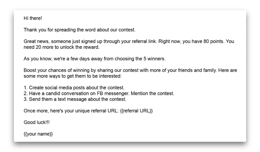 5 Contest Follow Up Emails You Should Send (With Examples) - UpViral
