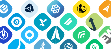 Different application software icons.